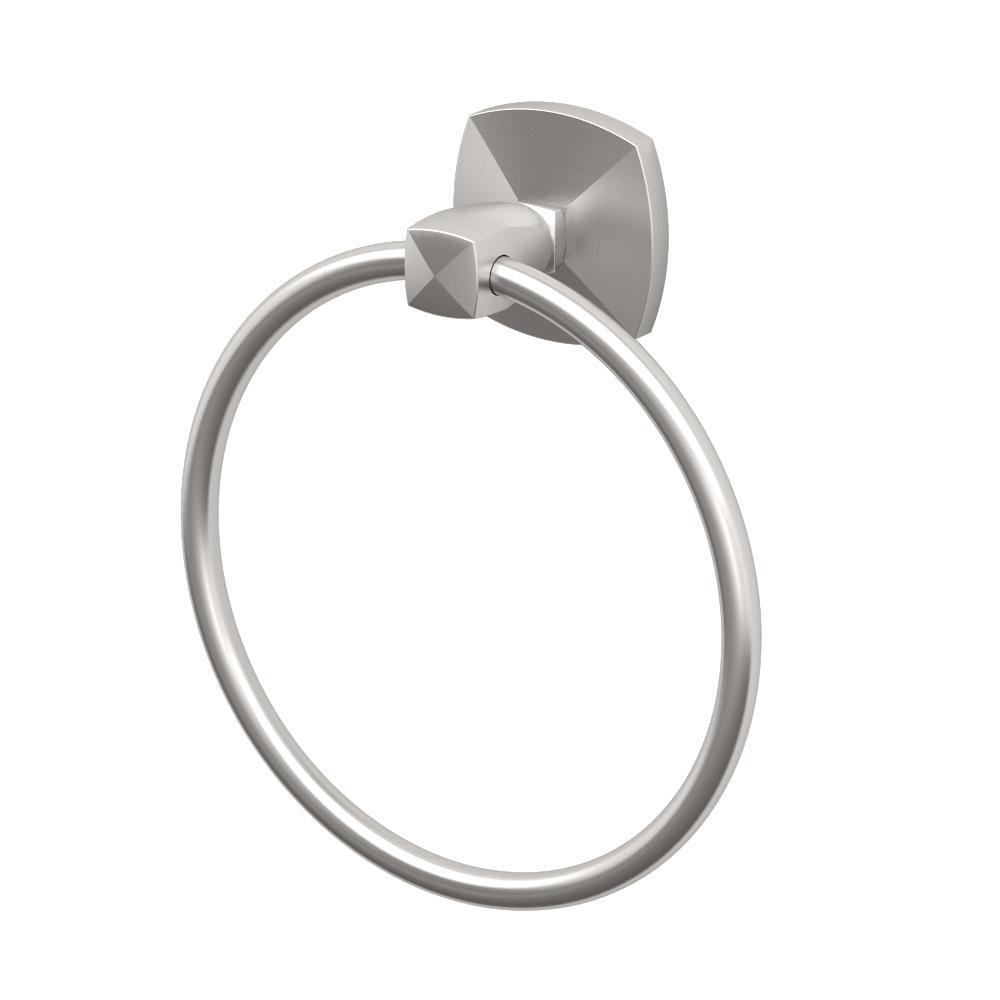 Gatco Jewel Towel Ring in Satin Nickel