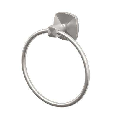 Jewel Towel Ring in Satin Nickel
