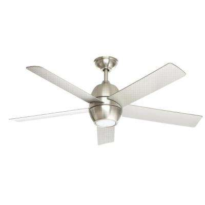 Greco III 52 in. LED Brushed Nickel Ceiling Fan with Light Kit and Remote Control