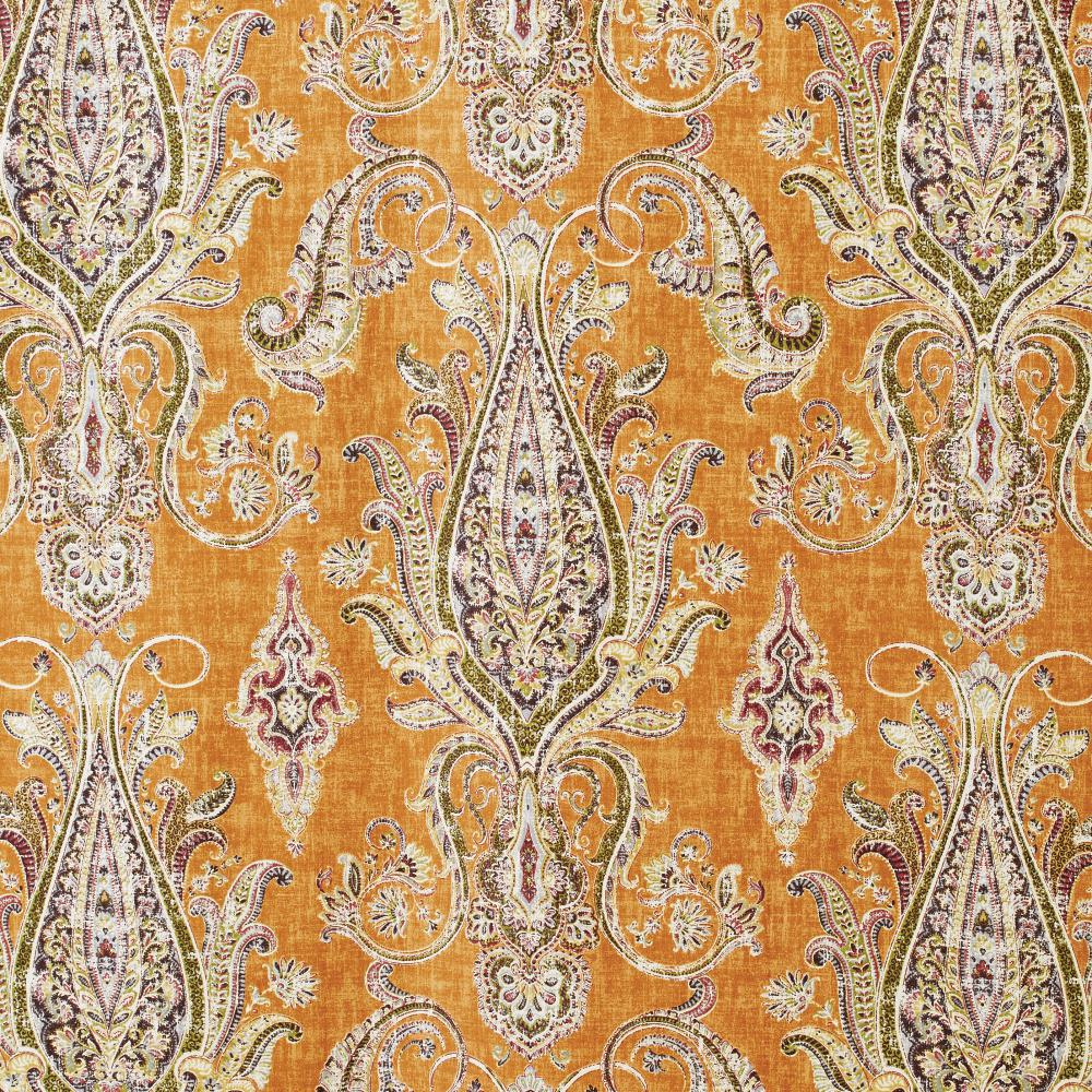 Home Decorators Collection Semi-Opaque Karani 108 in. L Cotton Drapery Panel in Cognac
