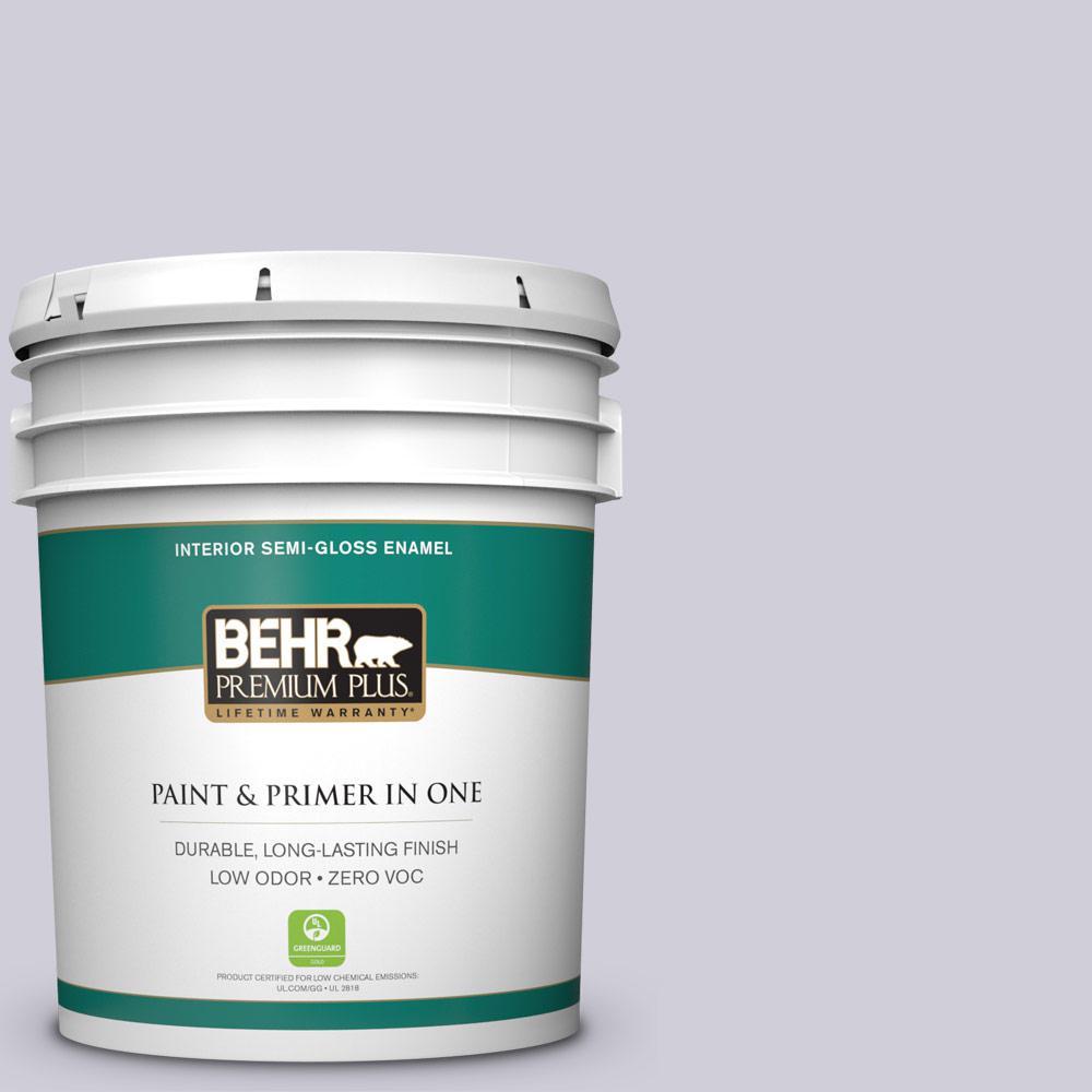 BEHR Premium Plus 5-gal. #660E-2 Purple Essence Zero VOC Semi-Gloss Enamel Interior Paint