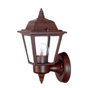 Builder's Choice Collection 1-Light Burled Walnut Outdoor Wall Lantern Sconce
