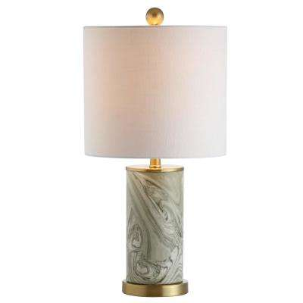 Swirl 20.5 in. Gray/Green Ceramic Table Lamp