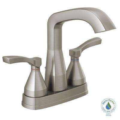 Stryke 4 in. Centerset 2-Handle Bathroom Faucet in Stainless
