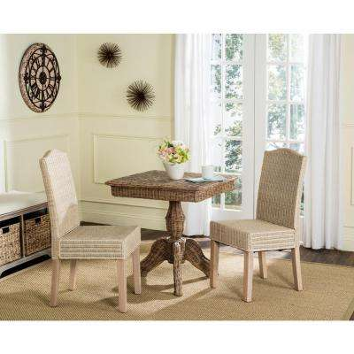 Odette White Wash 19 in. H Wicker Dining Chair (Set of 2)