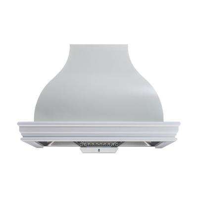 36 in. 900 CFM Ducted White Color Solid Wood Frame Liner Combined Wall Mount Range Hood with Touch Control