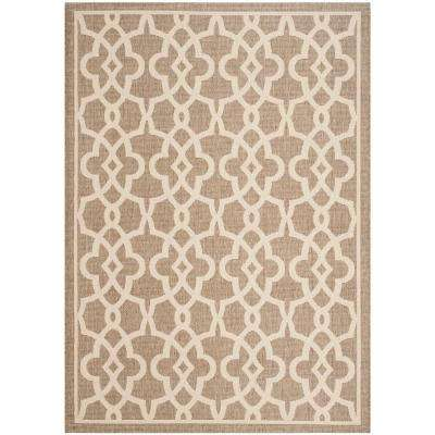 Courtyard Mocha/Beige 5 ft. x 8 ft. Indoor/Outdoor Area Rug