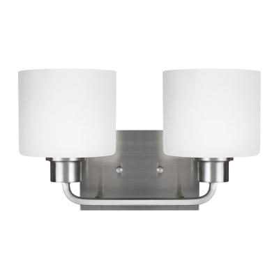 Canfield 2-Light Brushed Nickel Bath Light
