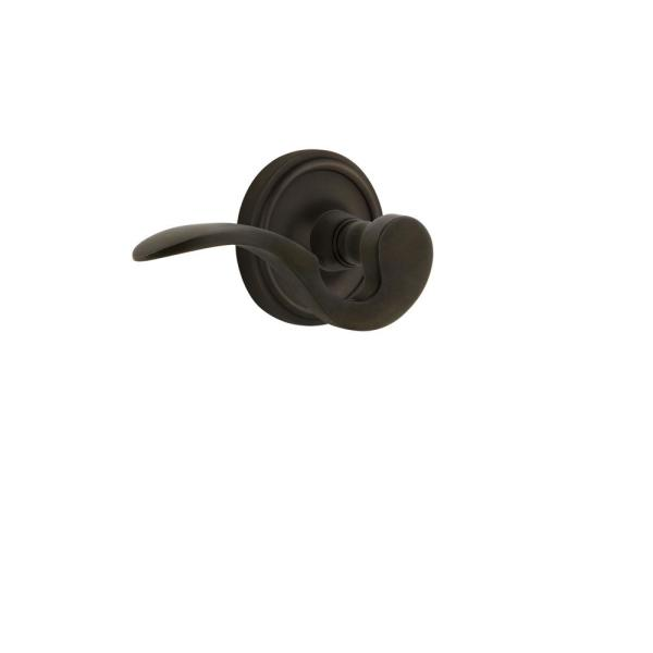 Nostalgic Warehouse Classic Rose 2 3 4 In Backset Oil Rubbed Bronze Passage Hall Closet Manor Door Lever 761861 The Home Depot