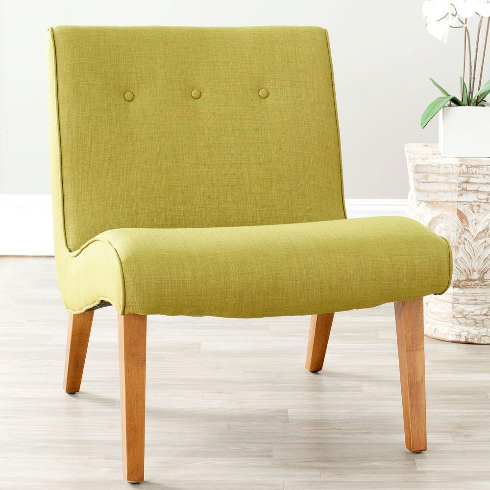 Safavieh mandell sweet pea green polyester blend accent chair
