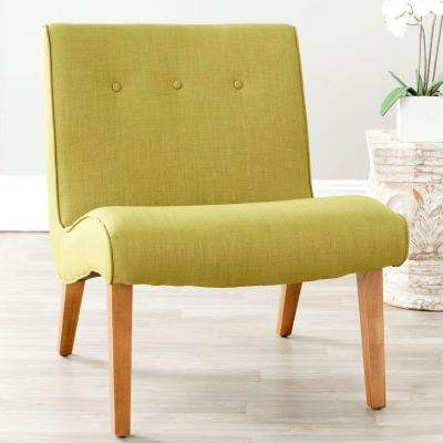 Incroyable Mandell Sweet Pea Green Polyester Blend Accent Chair