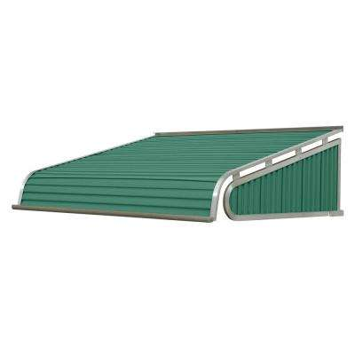 4.5 ft. 1500 Series Door Canopy Aluminum Awning (18 in. H x 48 in. D) in Fern Green
