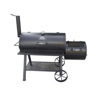 Deluxe Pro Charcoal Smoker and Grill Wagon in Black