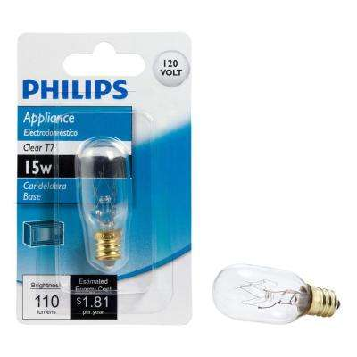 15-Watt T7 Incandescent Clear Light Bulb
