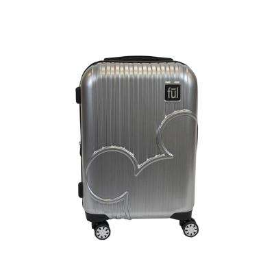 Molded Mickey Mouse Icon 21 in. Silver Hard Sided PC Rolling Luggage