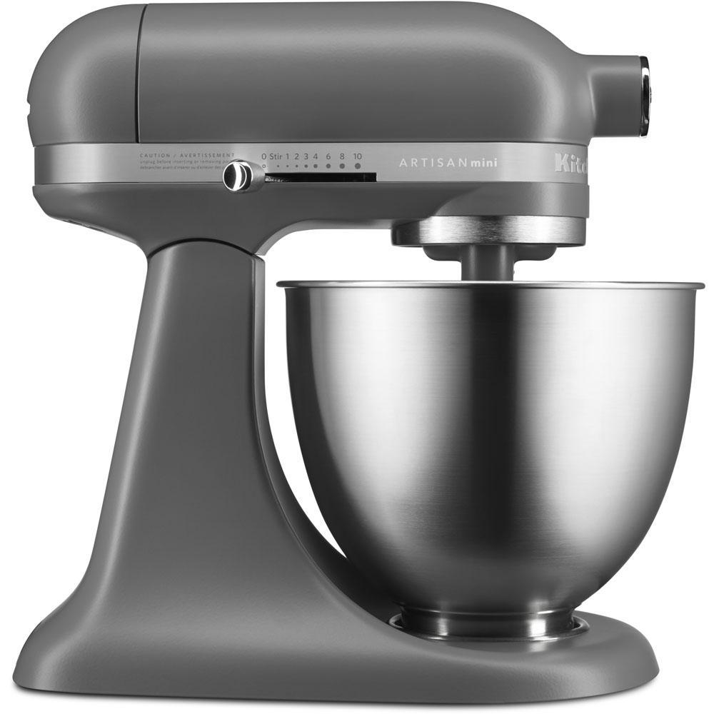 KitchenAid Artisan Mini 3.5-Qt. Tilt-Head Matte Gray Stand Mixer KSM3311XFG