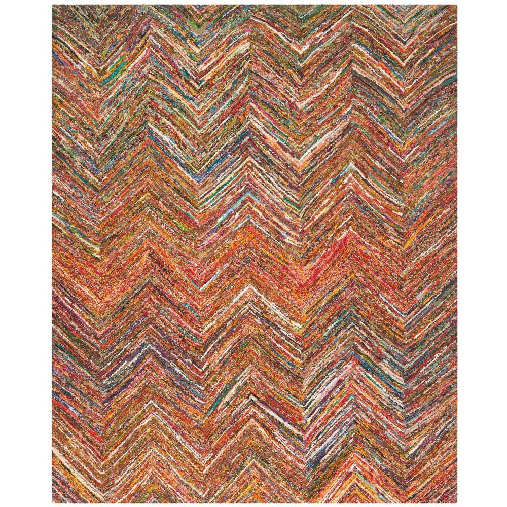 Safavieh Nantucket Red Blue Multi 10 Ft X 14 Ft Area Rug Nan141b