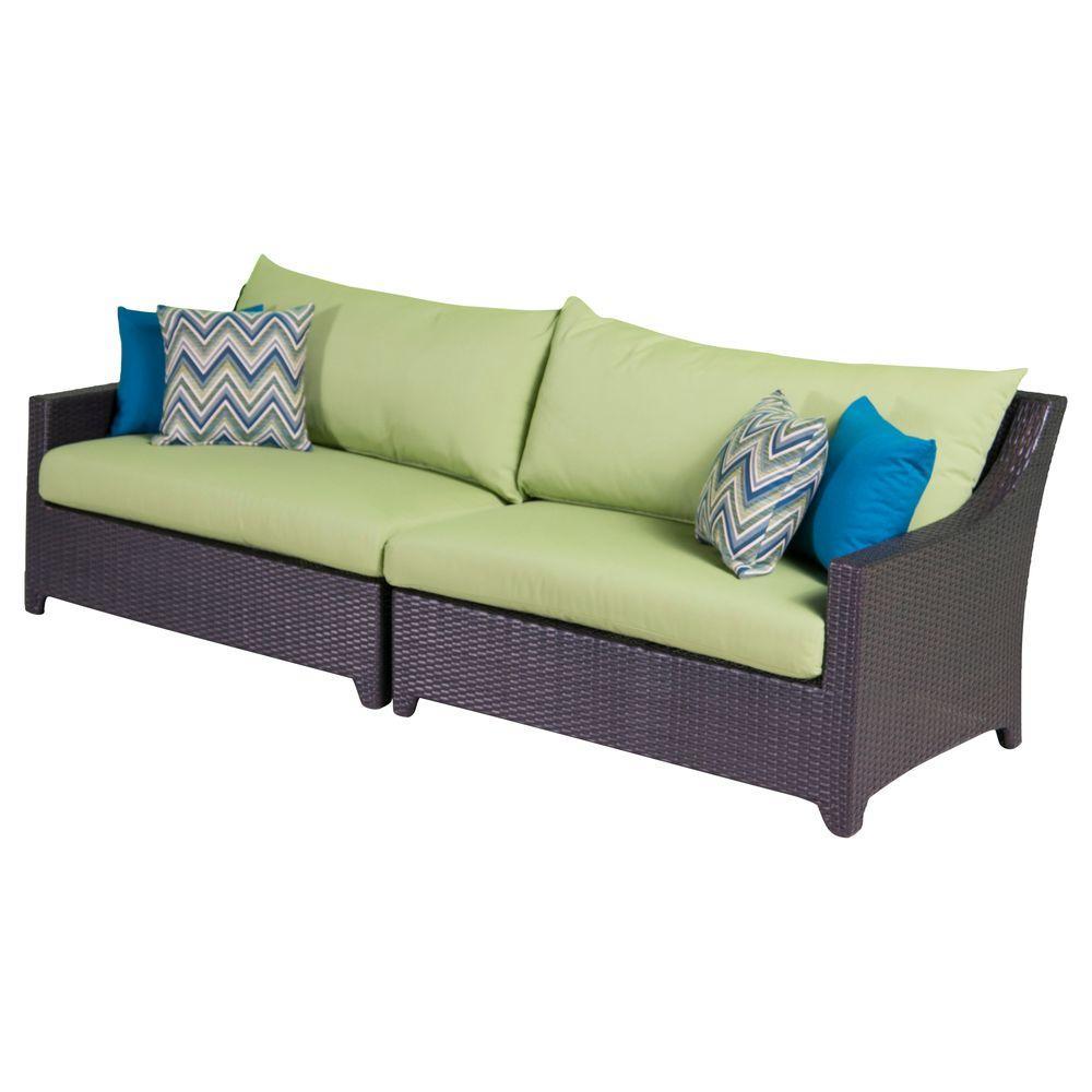 Deco Patio Sofa with Ginkgo Green Cushions