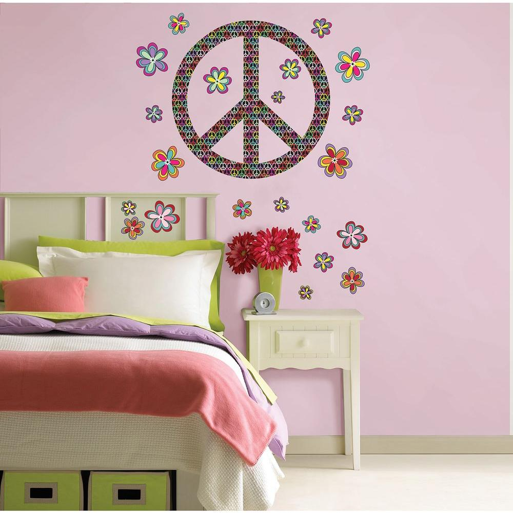 WallPOPs 39 in. x 17.5 in. Peace Wall Decal