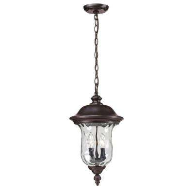 Lawrence 2-Light Bronze Incandescent Outdoor Hanging Pendant