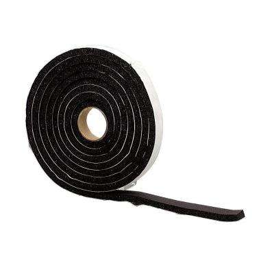 1-1/4 in. x 10 ft. Black Sponge Rubber Foam Weatherstrip Tape