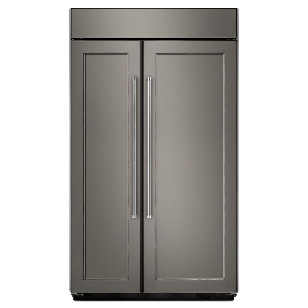 kitchenaid 25 5 cu ft built in side by side refrigerator in panel rh homedepot com