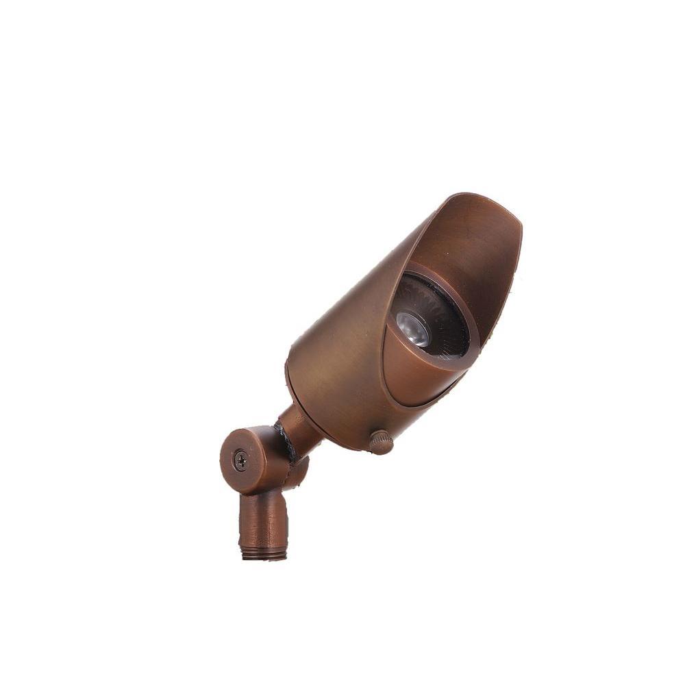 Illumine 1-Light 50 W Low Voltage Matte Bronze Outdoor Pathlight