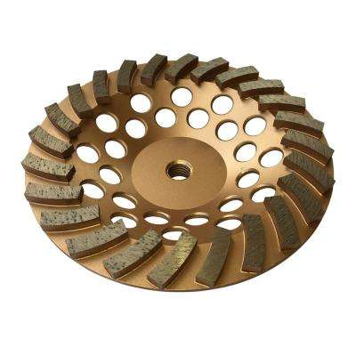 7 in. Diamond Grinding Wheel for Concrete 24 Segments 5/8 in.-11 Arbor