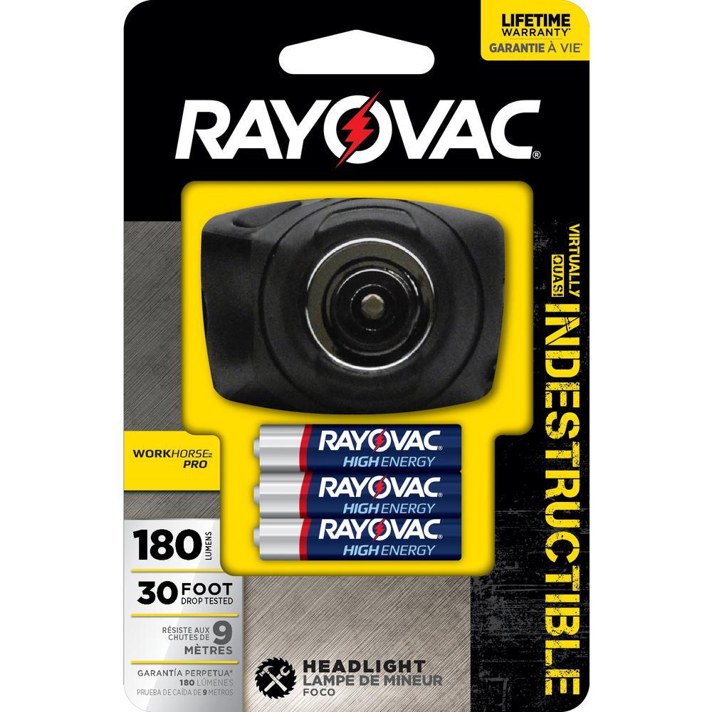 Rayovac Workhorse Pro 3AAA LED Virtually Indestructible Headlight