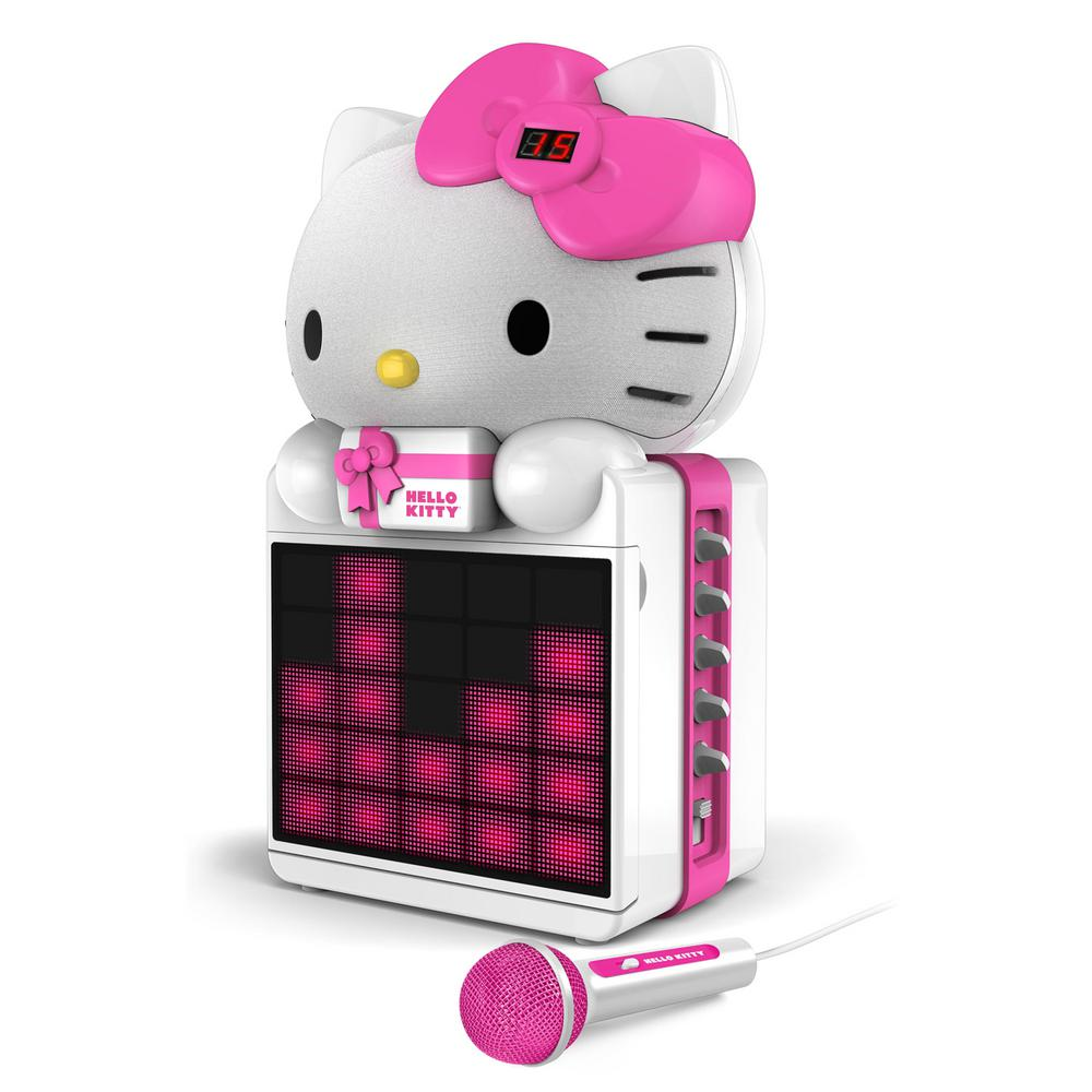 Hello Kitty Cd+g Karaoke System with LED Light Show and M...
