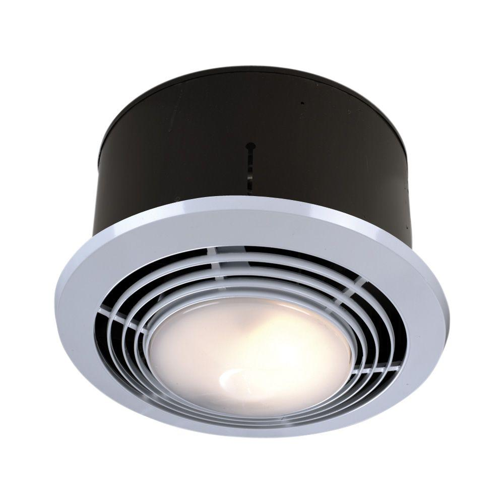 CFM Ceiling Exhaust Fan With Light And HeaterWH The Home Depot - Nutone scovill bathroom fan