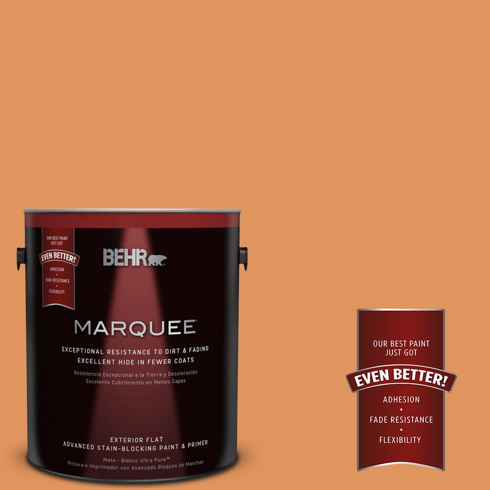 BEHR MARQUEE 1-gal. #M230-6 Amiable Orange Flat Exterior Paint