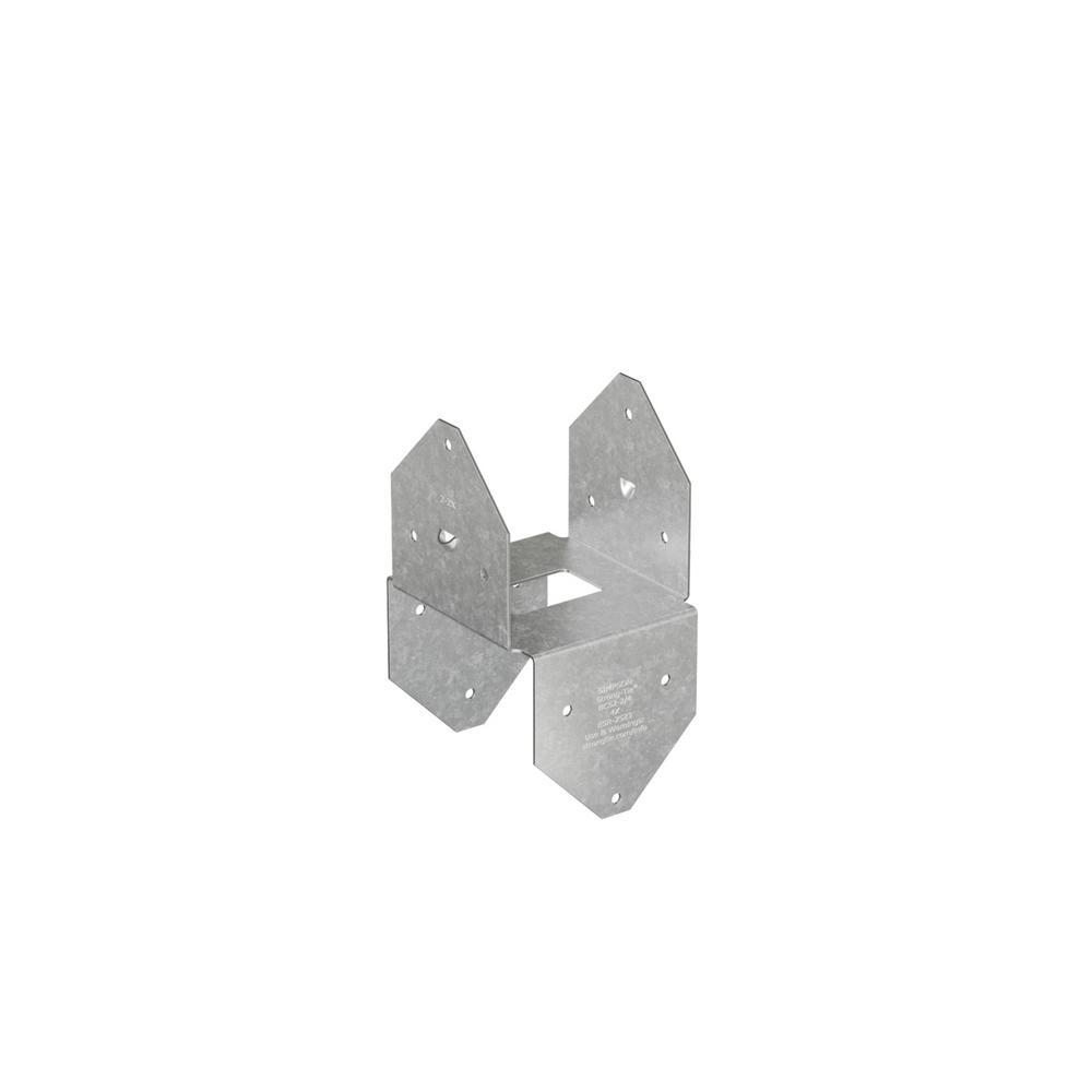 Simpson Strong-Tie BCS Galvanized Post Cap/Base for Double 2x Beam, 4x Post