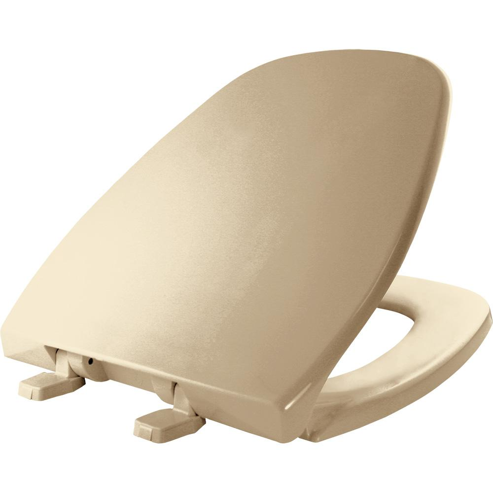BEMIS Round Closed Front Toilet Seat in Biscuit