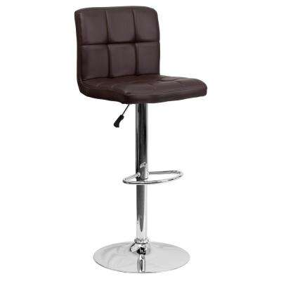 25.25 in. to 34 in. H Brown Bar Stool