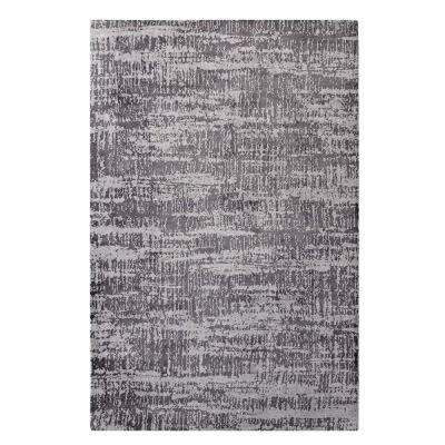 Darja Distressed Rustic Modern 8 ft. x 10 ft. Area Rug in Light and Dark Gray