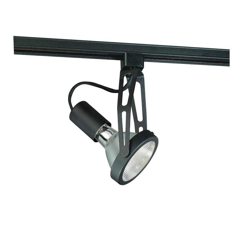 Hampton Bay Double Arm Gimbal Linear Track Head Black Finish