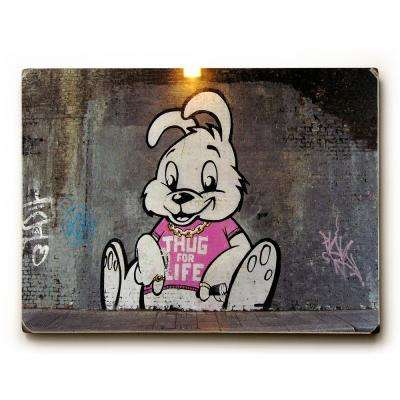 "9 in. x 12 in. ""Thug For Life"" by Banksy Solid Wood Wall Art"