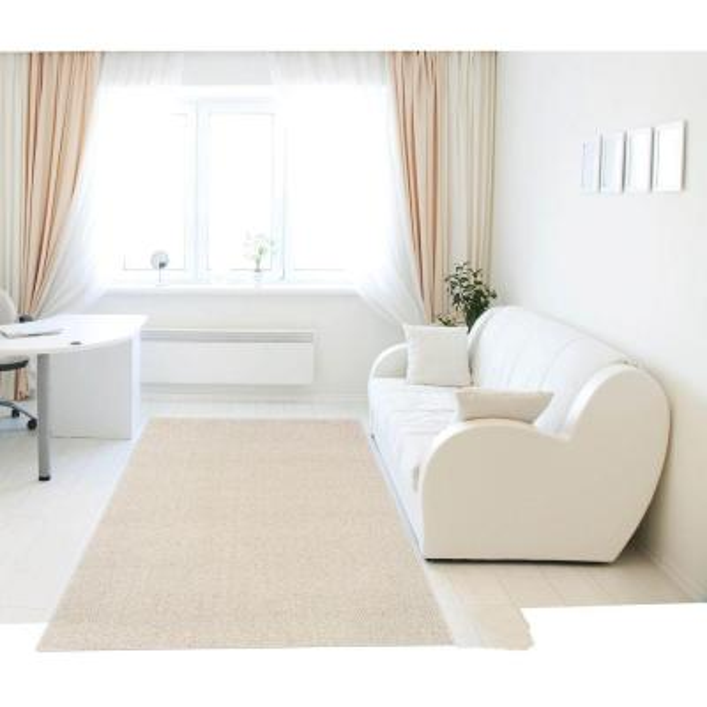 Loop Pile Naturals 6 ft. x 8 ft. Bound Carpet Remnant