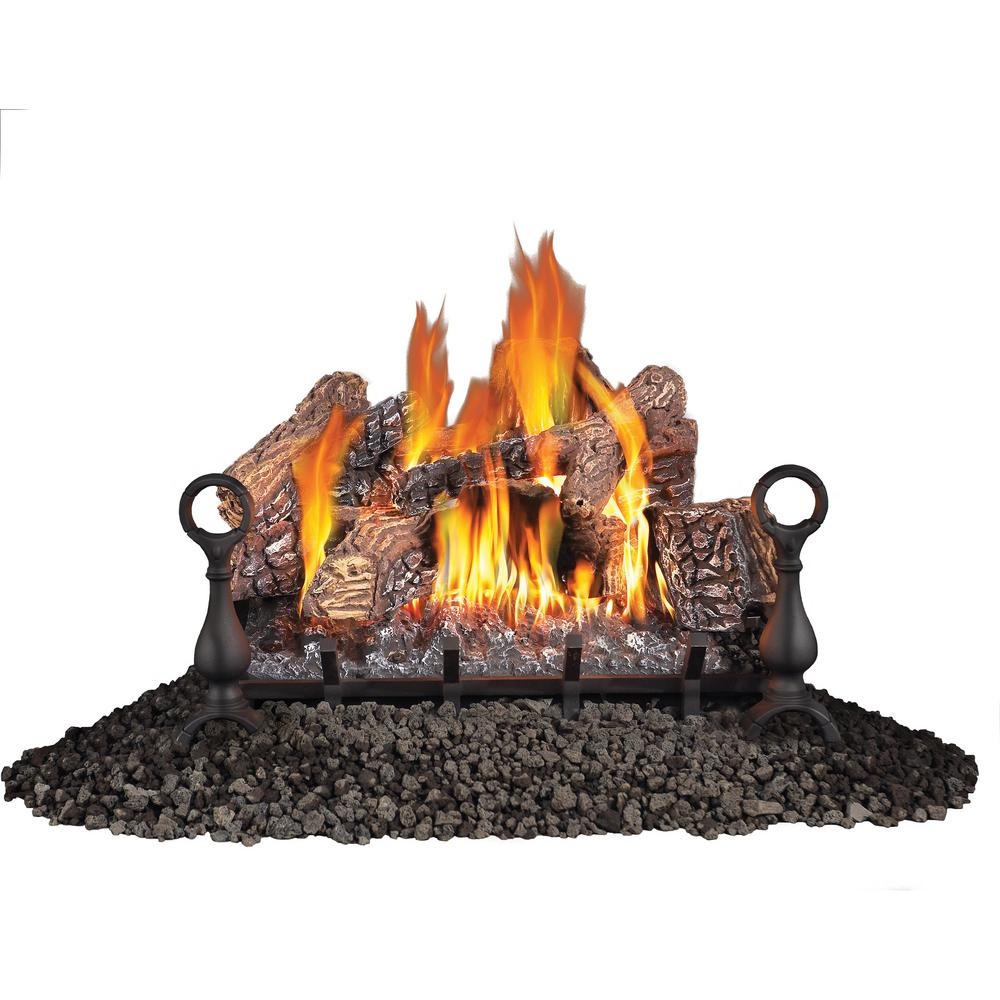 Enjoy the warmth and look of a real wood fire without any of the effort by using this NAPOLEON Vent Free Propane Gas Log Set.