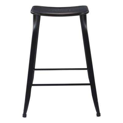 "Durham 26"" Counter Stool in Antique Black - 2 Pack"
