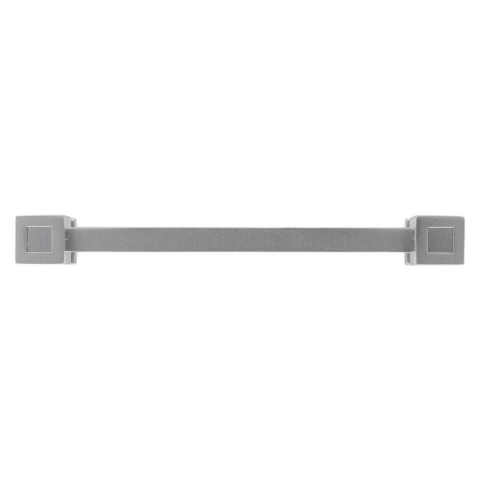 Continental Home Hardware 5 in. Satin Nickel Cube End Center-to-Center Pull