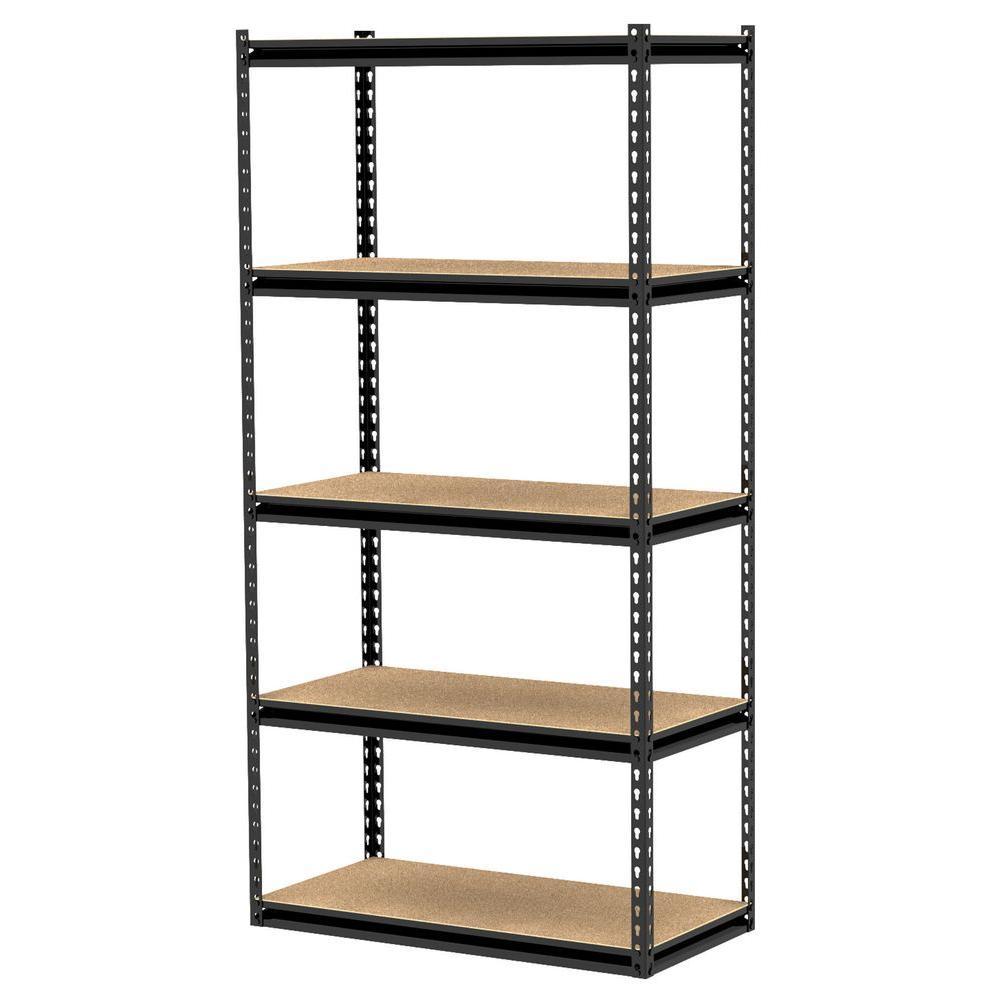 Gorilla Rack 5-Shelf 36 in. x 18 in. x 72 in. Freestanding Storage Unit