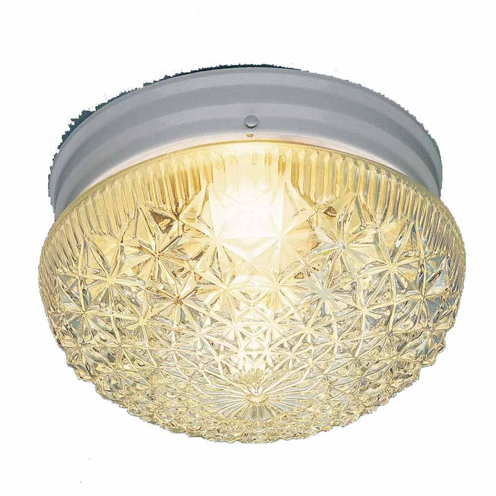 Lenor 1-Light White Incandescent Ceiling Flushmount