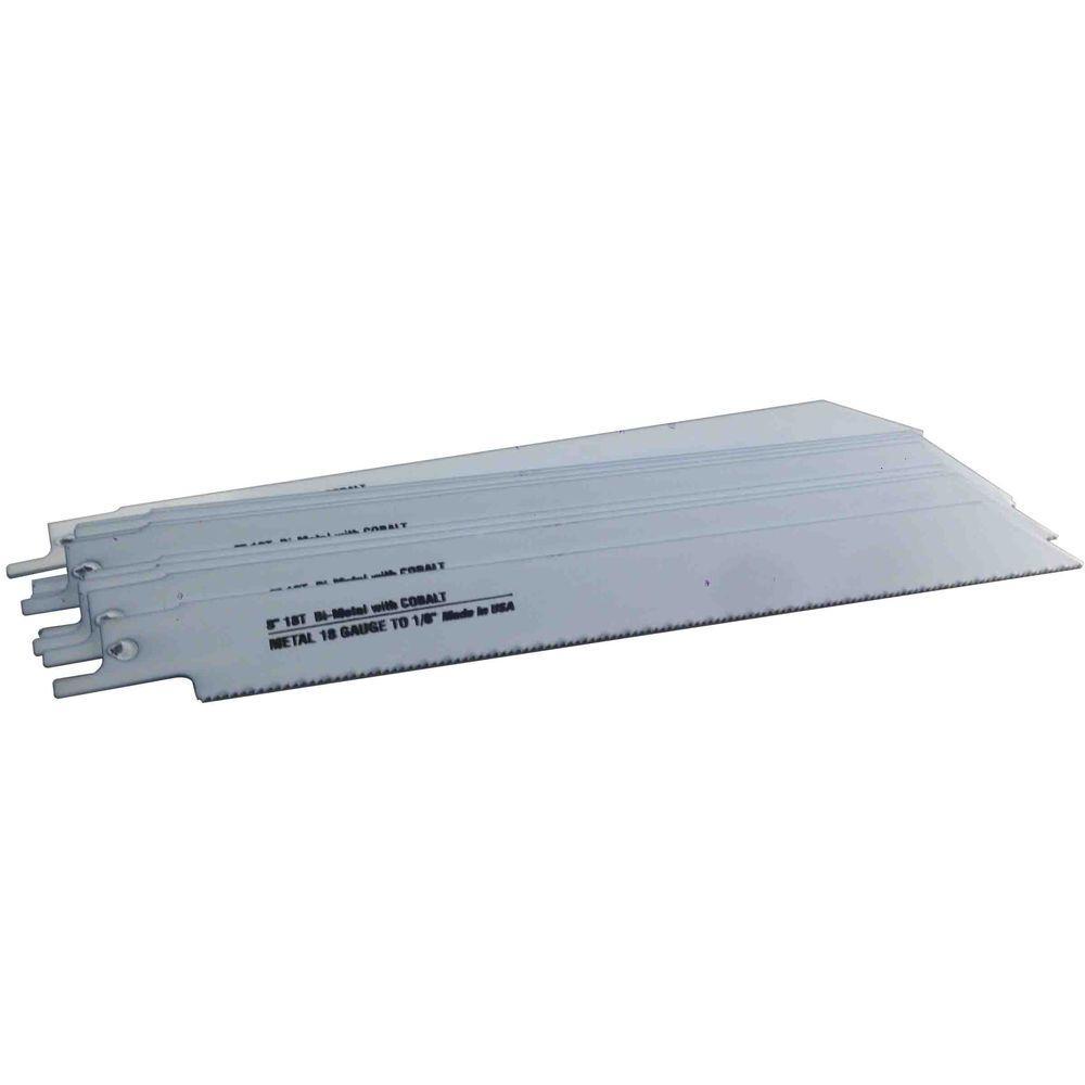 8 in. x 3/4 in. x 0.035 in. 18 Teeth per in. Metal Cutting Bi-Metal Reciprocating Saw Blade (10-Pack)