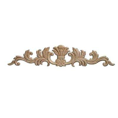 3364PK 7/32 in. x 16-11/16 in. x 3-1/2 in. Birch Empire Center Onlay Ornament Moulding