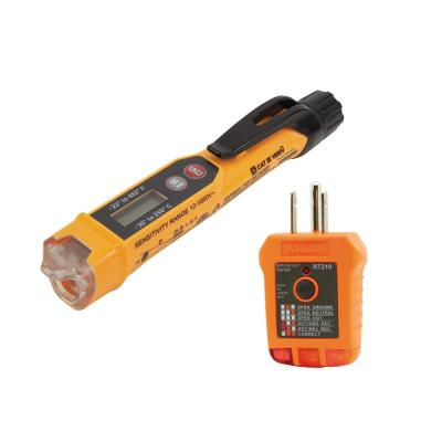 Non-Contact Voltage Tester with Infrared Thermometer and Outlet Tester Set