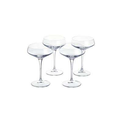 Genoa 11.25 fl. oz. Lead-Free Crystal Coupe Cocktail Glasses (Set of 4)