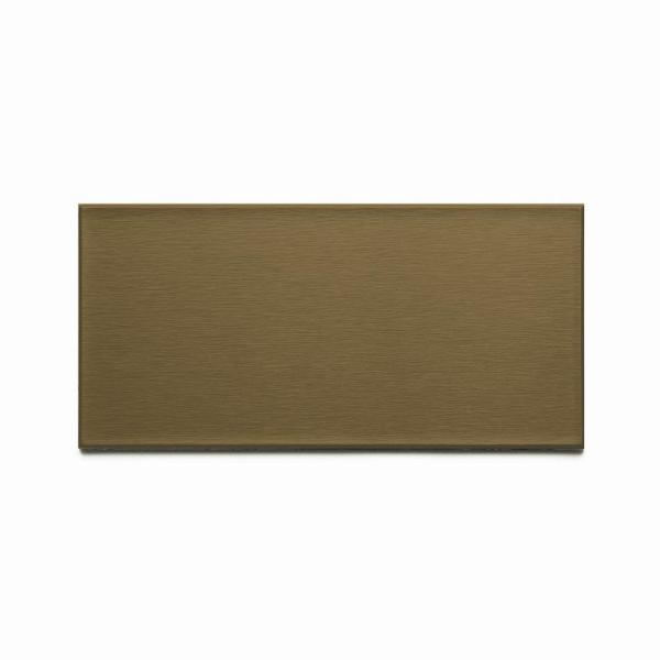 Long Grain 6 in. x 3 in. Brushed Bronze Metal Decorative Wall Tile (8-Pack)