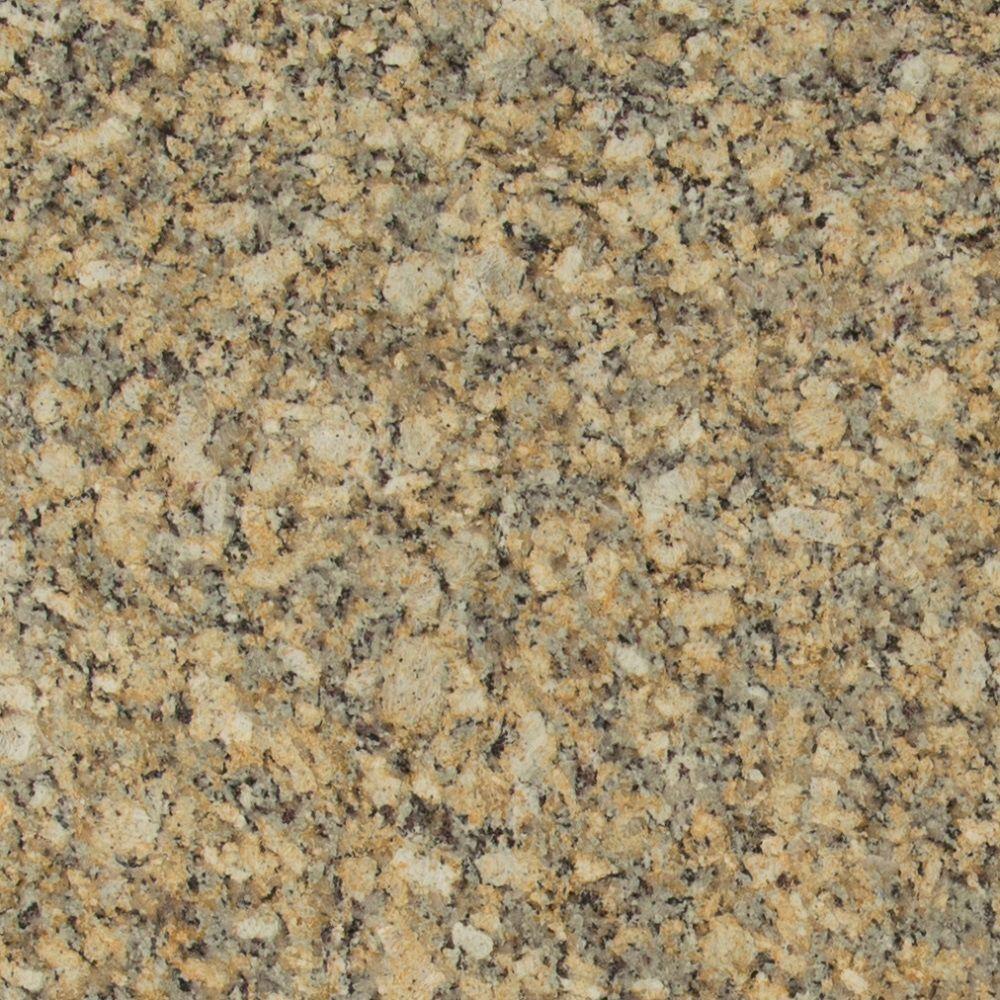 3 in  x 3 in  Granite Countertop Sample in Giallo Napoleon
